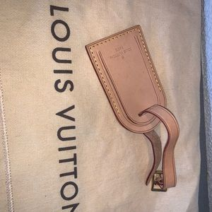 Authentic Louis Vuitton luggage tag purse charm